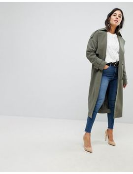 Asos Statement Mac With Buckle Detail by Asos Collection