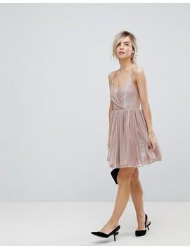 Asos Petite Metallic Tulle Mini Dress by Asos Petite