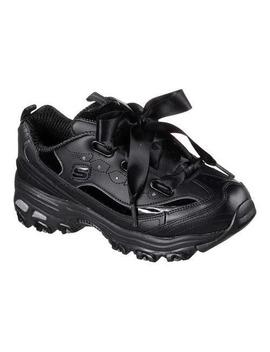 Women's Skechers D'lites Latest Trend Sneaker Black/Black by Skechers