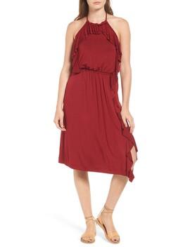 Bella Ruffle Halter Dress by Ella Moss