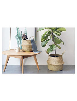 buy-2-get-1-free---large-planter-basket,belly-basket,seagrass-basket,plant-holder,home-decor,-laundry-basket,-hamper-toy-storage-organizer by etsy