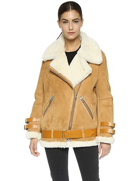 Velocite Suede Shearling Moto Coat by Acne Studios