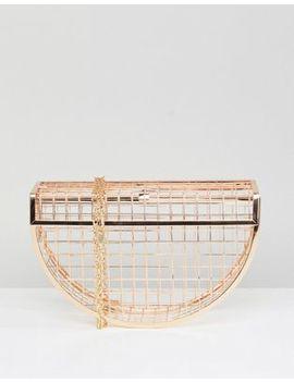 Asos Half Moon Cage Clutch Bag by Asos Collection