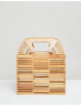 Asos Design Bamboo Square Boxy Clutch by Asos Design