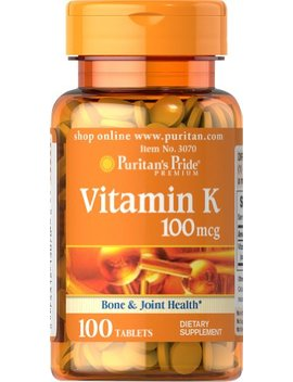 Puritan's Pride Vitamin K 100 Mcg 100 Tablets by Puritan's Pride