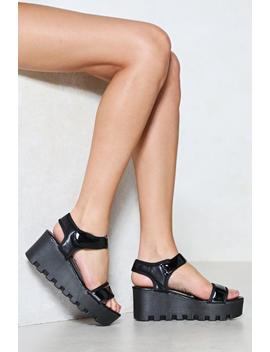 Chip Off The Old Block Platform Sandal by Nasty Gal