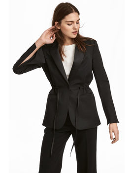 Tuxedo Jacket With Drawstring by H&M