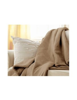 Sunbeam Microplush Electric Heated Throw Blanket In Mushroom Beige by Sunbeam