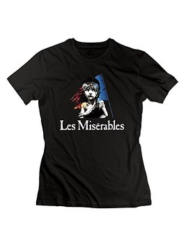 Lesn Women's Les Miserables Broadway Musical Film Novel Tshirts Black S by Lesn