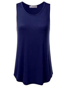 Floria Womens Basic Flowy Loose Fit Ultra Lightweight Soft Knit Sheer Tank Top by Floria