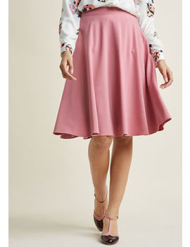 Just This Sway Midi Skirt In Carnation In S Just This Sway Midi Skirt In Carnation In S by Modcloth