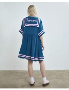 Lazy Oaf Blue Introvert Dress (S/M) by Lazy Oaf