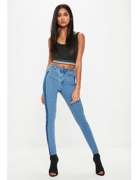 Blue Sinner Shadow Side Panel Jeans by Missguided