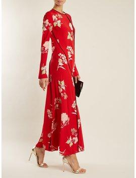Split Hem Silk Crepe De Chine Dress by Diane Von Furstenberg
