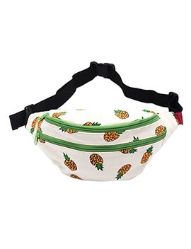 Fanny Pack Pineapple Hip Bag Waist Bag Canvas Bum Belt Hip Pouch Bags Purses Festival by L Parkin