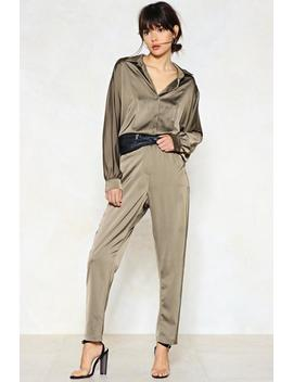 An Overall Success Utility Jumpsuit by Nasty Gal