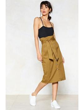 It's In The Bag Midi Skirt by Nasty Gal