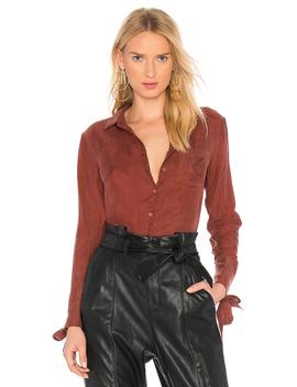 Rue Grommet Shirt In Rust by Line & Dot