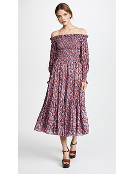 Off Shoulder Cosmic Flower Dress by Rebecca Taylor