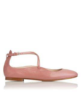 Nessie Pink Leather Flat by L.K.Bennett