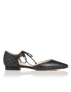 Mikaila Black Leather Flats by L.K.Bennett