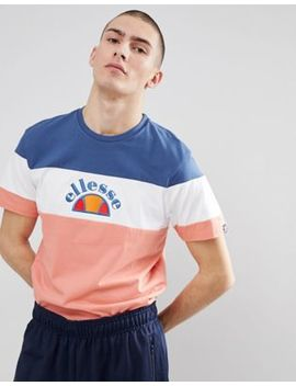 Ellesse Colour Block T Shirt In Pink by Ellesse