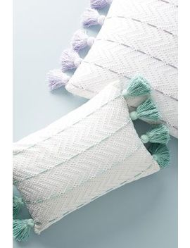 Tasseled Eyelet Pillow by Anthropologie