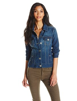 Liverpool Jeans Company Women's Classic Button Front Denim Stretch Jacket by Liverpool Jeans+Company