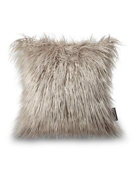 "Phantoscope Decorative New Luxury Series Merino Style Beige Fur Throw Pillow Case Cushion Cover 18"" X 18"" 45cm X 45cm by Phantoscope"