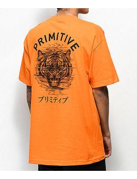 Primitive Tiger Pj Orange T Shirt by Primitive Skateboarding