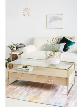 Framed Brass Coffee Table by Anthropologie
