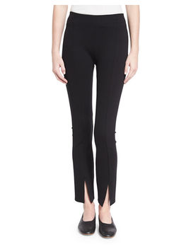 Thilde Slit Front Skinny Pants by Neiman Marcus