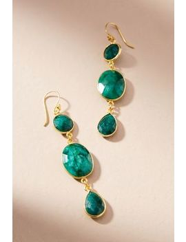 Marea Trio Drop Earrings by Jemma Sands