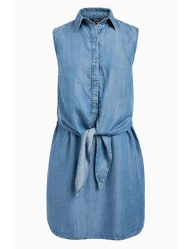 Blue Knot Front Dress by Next
