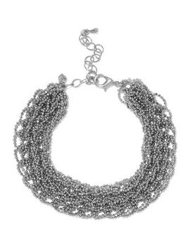 Silver Tone Beaded Bracelet by Kenneth Jay Lane