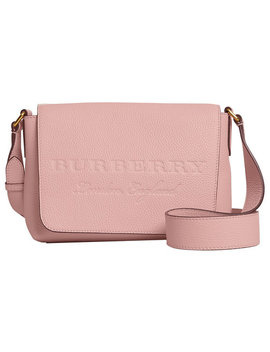 Small Embossed Messenger Bag by Burberry