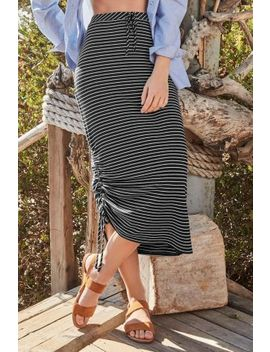 Ruched Tube Stripe Skirt by Next