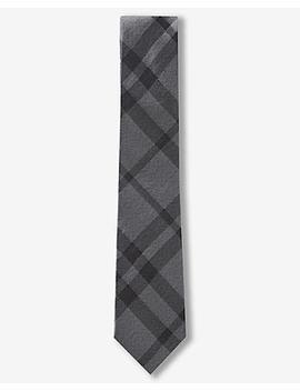 Plaid Slim Silk Tie by Express