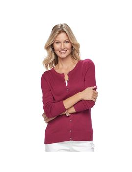 Women's Croft &Amp; Barrow® Essential Cardigan by Croft &Amp; Barrow