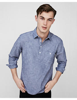 Cotton Popover Shirt by Express