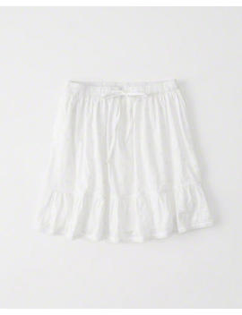 Embroidered Mini Skirt by Abercrombie & Fitch