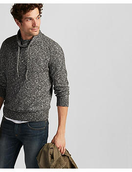 Marled Funnel Neck Pullover Sweater by Express