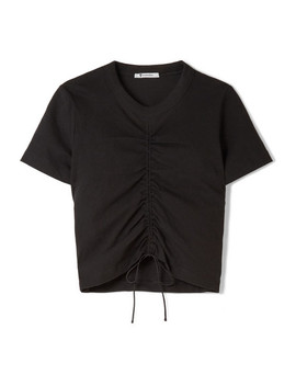 Gathered Stretch Cotton Jersey T Shirt by T By Alexander Wang
