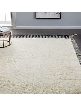 Ikat Border Shag Rug by West Elm