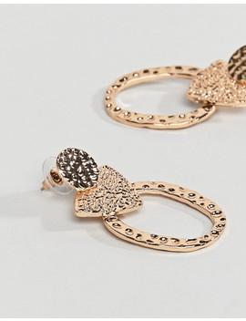 Reclaimed Vintage Inspired Hammered Earrings by Reclaimed Vintage