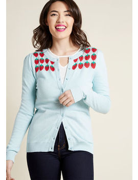 Berry Well Then Intarsia Cardigan In M Berry Well Then Intarsia Cardigan In M by Modcloth