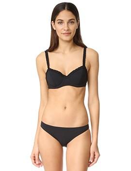 Solid Ruffle Bikini Top by Tory Burch