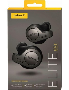 Elite 65t True Wireless Earbud Headphones   Titanium Black by Jabra