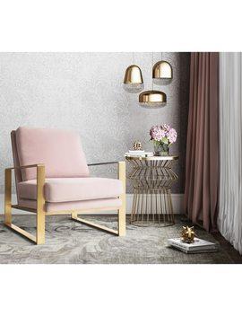 Mott Mauve Velvet Chair by Generic