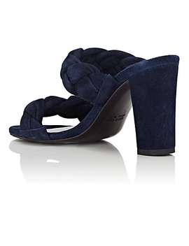 Suede Double Band Mules by Barneys New York